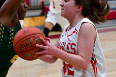Gallery CIAC Girls Basketball; Wolcott vs. Holy Cross - Photo # 563