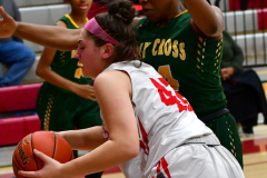 Gallery CIAC Girls Basketball; Wolcott vs. Holy Cross - Photo # 743