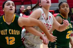 Gallery CIAC Girls Basketball; Wolcott vs. Holy Cross - Photo # 827
