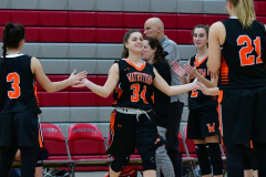 CIAC Girls Basketball; Wolcott vs. Watertown - Photo # 074