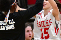 CIAC Girls Basketball; Wolcott vs. Watertown - Photo # 099