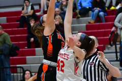 CIAC Girls Basketball; Wolcott vs. Watertown - Photo # 152