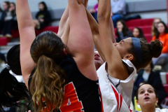 CIAC Girls Basketball; Wolcott vs. Watertown - Photo # 168
