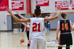 CIAC Girls Basketball; Wolcott vs. Watertown - Photo # 182