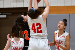 CIAC Girls Basketball; Wolcott vs. Watertown - Photo # 219