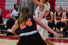 CIAC Girls Basketball; Wolcott vs. Watertown - Photo # 254