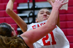 CIAC Girls Basketball; Wolcott vs. Watertown - Photo # 261