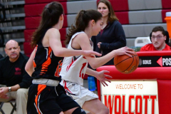 CIAC Girls Basketball; Wolcott vs. Watertown - Photo # 276