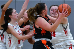 CIAC Girls Basketball; Wolcott vs. Watertown - Photo # 294