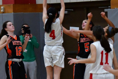 CIAC Girls Basketball; Wolcott vs. Watertown - Photo # 315