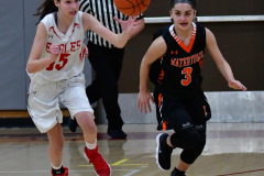 CIAC Girls Basketball; Wolcott vs. Watertown - Photo # 334