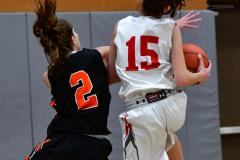 CIAC Girls Basketball; Wolcott vs. Watertown - Photo # 402