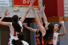 CIAC Girls Basketball; Wolcott vs. Watertown - Photo # 410