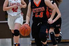 CIAC Girls Basketball; Wolcott vs. Watertown - Photo # 441