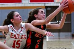 CIAC Girls Basketball; Wolcott vs. Watertown - Photo # 464
