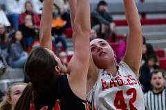 CIAC Girls Basketball; Wolcott vs. Watertown - Photo # 490