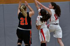 CIAC Girls Basketball; Wolcott vs. Watertown - Photo # 534