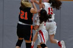 CIAC Girls Basketball; Wolcott vs. Watertown - Photo # 535