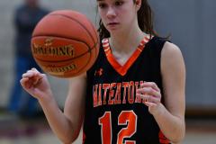 CIAC Girls Basketball; Wolcott vs. Watertown - Photo # 547