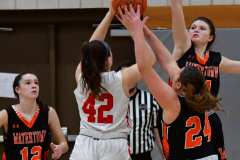 CIAC Girls Basketball; Wolcott vs. Watertown - Photo # 555