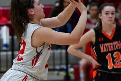 CIAC Girls Basketball; Wolcott vs. Watertown - Photo # 557