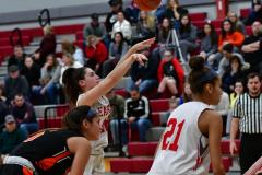 CIAC Girls Basketball; Wolcott vs. Watertown - Photo # 560