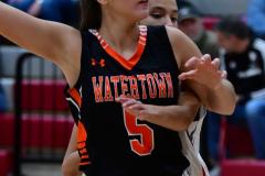CIAC Girls Basketball; Wolcott vs. Watertown - Photo # 565