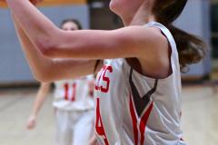 CIAC Girls Basketball; Wolcott vs. Watertown - Photo # 578