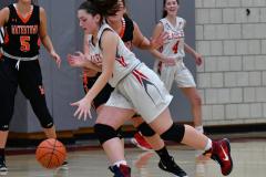 CIAC Girls Basketball; Wolcott vs. Watertown - Photo # 608