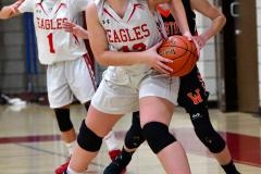 CIAC Girls Basketball; Wolcott vs. Watertown - Photo # 614