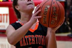 CIAC Girls Basketball; Wolcott vs. Watertown - Photo # 630