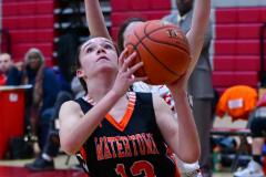 CIAC Girls Basketball; Wolcott vs. Watertown - Photo # 644