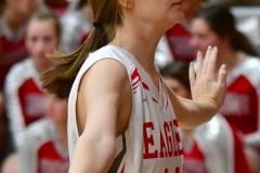 CIAC Girls Basketball; Wolcott vs. Watertown - Photo # 718