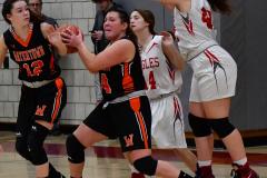 CIAC Girls Basketball; Wolcott vs. Watertown - Photo # 756