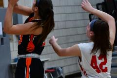 CIAC Girls Basketball; Wolcott vs. Watertown - Photo # 764