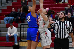 CIAC Girls Basketball; Wolcott vs. St. Paul - Photo # 226