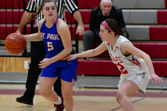 CIAC Girls Basketball; Wolcott vs. St. Paul - Photo # 231