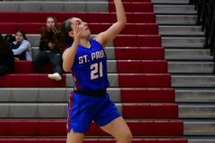 CIAC Girls Basketball; Wolcott vs. St. Paul - Photo # 243