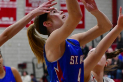 CIAC Girls Basketball; Wolcott vs. St. Paul - Photo # 249