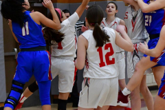 CIAC Girls Basketball; Wolcott vs. St. Paul - Photo # 254