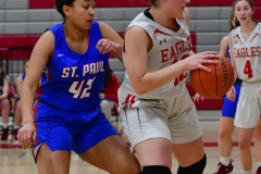 CIAC Girls Basketball; Wolcott vs. St. Paul - Photo # 277