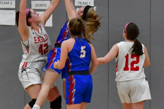 CIAC Girls Basketball; Wolcott vs. St. Paul - Photo # 284