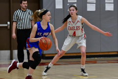 CIAC Girls Basketball; Wolcott vs. St. Paul - Photo # 306