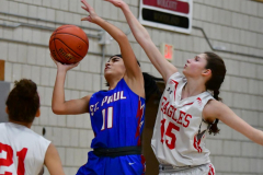 CIAC Girls Basketball; Wolcott vs. St. Paul - Photo # 319