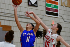 CIAC Girls Basketball; Wolcott vs. St. Paul - Photo # 320