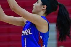 CIAC Girls Basketball; Wolcott vs. St. Paul - Photo # 322