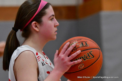 CIAC Girls Basketball; Wolcott vs. St. Paul - Photo # 328