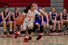 CIAC Girls Basketball; Wolcott vs. St. Paul - Photo # 331