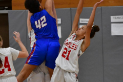 CIAC Girls Basketball; Wolcott vs. St. Paul - Photo # 356
