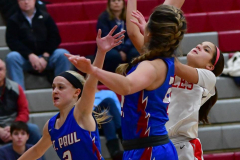 CIAC Girls Basketball; Wolcott vs. St. Paul - Photo # 367
